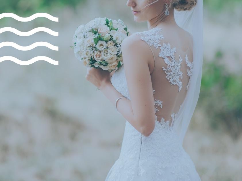 νυφικό, καθαριστήριο, νύφη, ανθοδέσμη